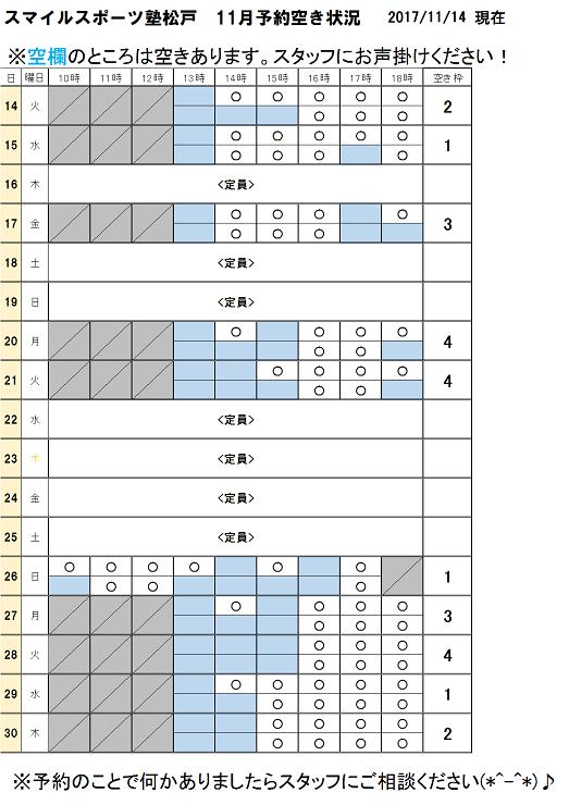 スポーツ塾松戸11月分空き状況11月14日現在.png